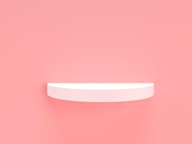 Rosa pastell- und weißprodukt des 3d-renderings stehen auf hintergrund. Premium PSD