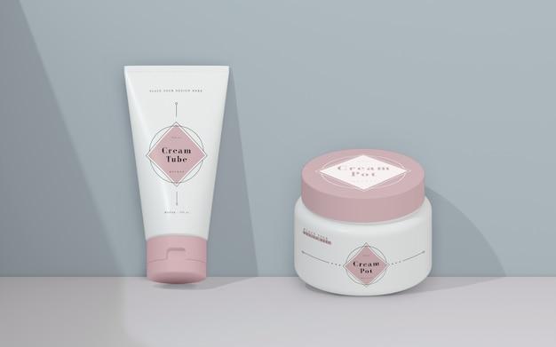 Rosa verpackung von kosmetischen produkten Kostenlosen PSD
