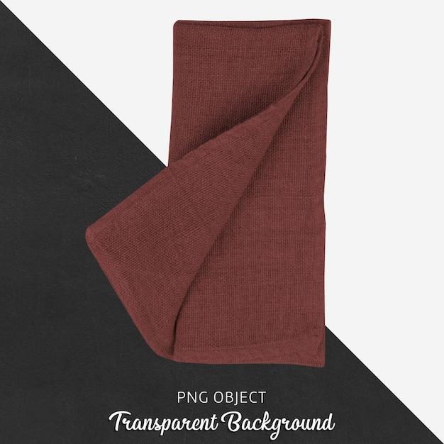 Rotweinrotes umhüllungsgewebe auf transparentem hintergrund Premium PSD