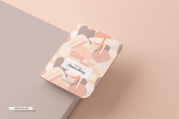 Round corner notebook mockup Kostenlosen PSD