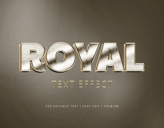 Royal text effect mockup Premium PSD