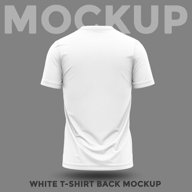 Rückansicht des hemdes mit rundhalsmodell Premium PSD