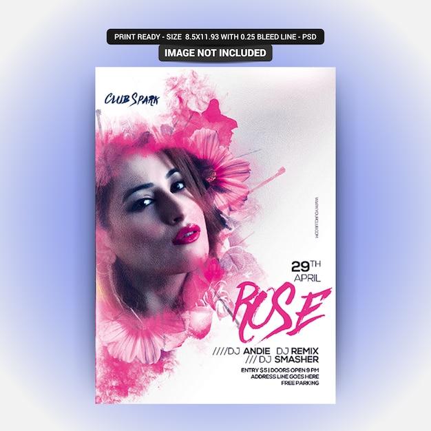 Ruse poster mit bearbeitbaren objekten Premium PSD