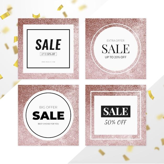 Sale banner set Premium PSD