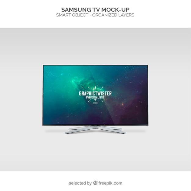 Samsung tv mockup Kostenlosen PSD
