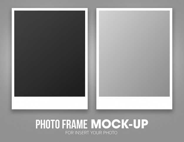 Satz der polaroidfotorahmen-modellschablone Premium PSD