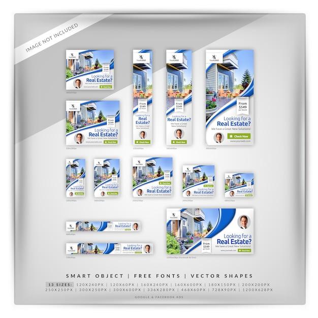 Saubere immobilien google & facebook ads Premium PSD