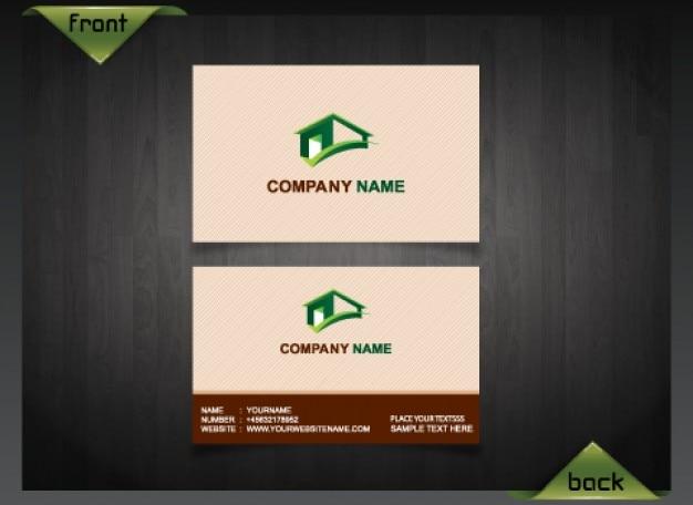 Saubere Visitenkarte Vorlage Immobilien Kostenlose Psd Datei