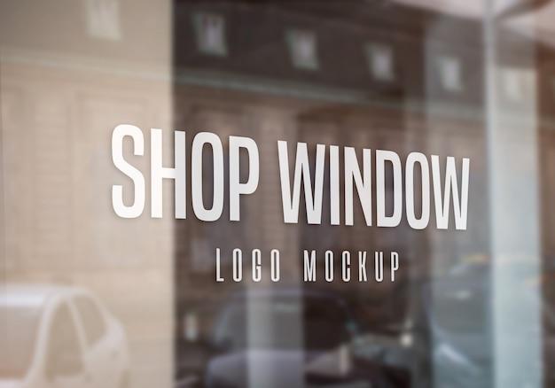 Schaufenster logo mockup Premium PSD