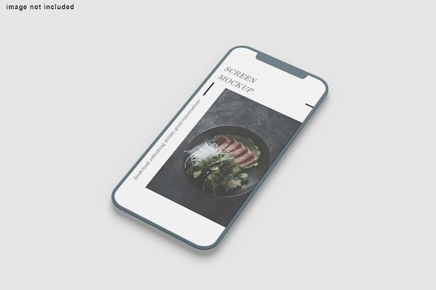 Schließen sie oben auf dem bildschirm telefonmodell isoliert Premium PSD