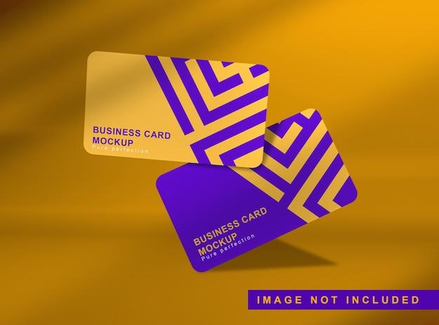Schließen sie oben auf dem schwebenden modell der visitenkarte Premium PSD