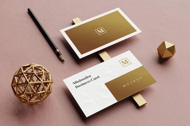 Schließen sie oben auf elegantem visitenkartenmodell Premium PSD