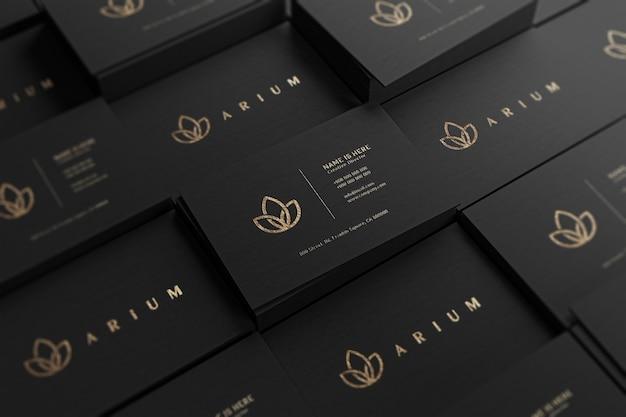Schließen sie oben auf luxus-visitenkartenmodell Premium PSD