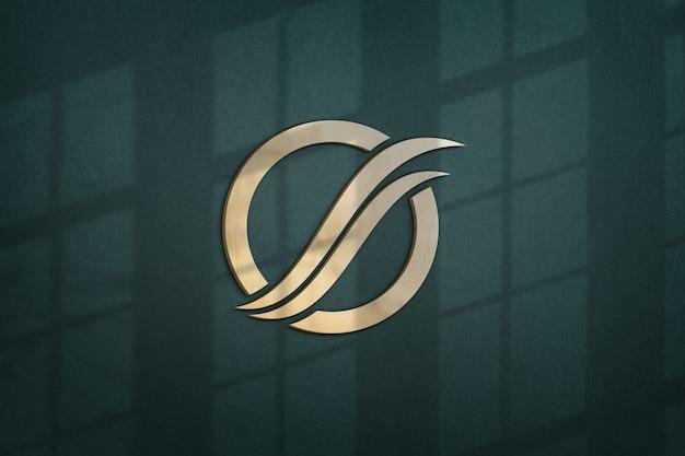 Schließen sie oben auf schönem logo-modellentwurf Premium PSD