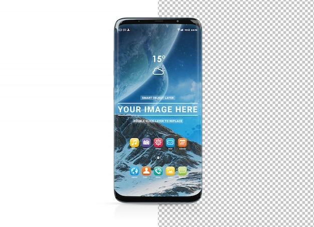Schneiden sie modernes smartphone mit schattenmodell aus Premium PSD