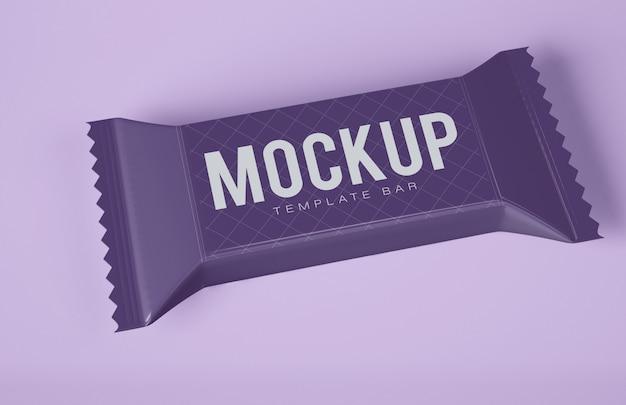 Schokoladen-snackbar-modell Premium PSD