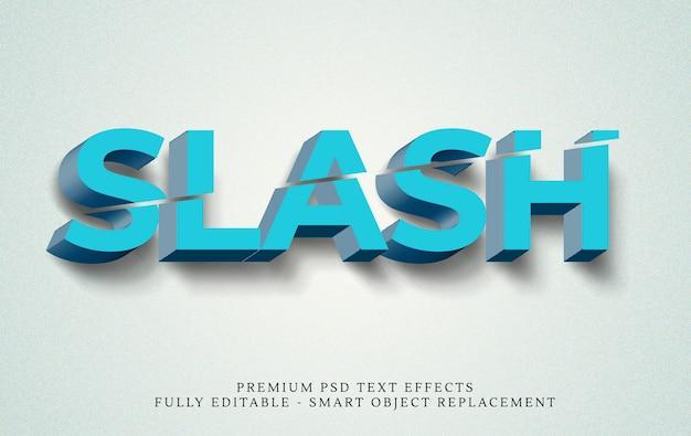Schrägstrich 3d text-stil-effekt Premium PSD