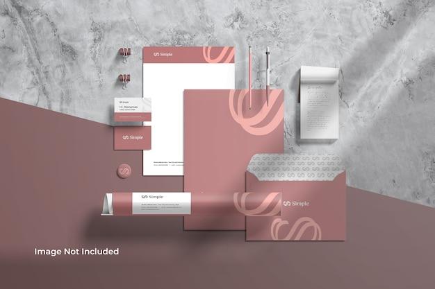 Schreibwaren branding identity mockup scene creator Premium PSD