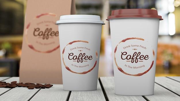 Schreibwaren-modell für café Kostenlosen PSD