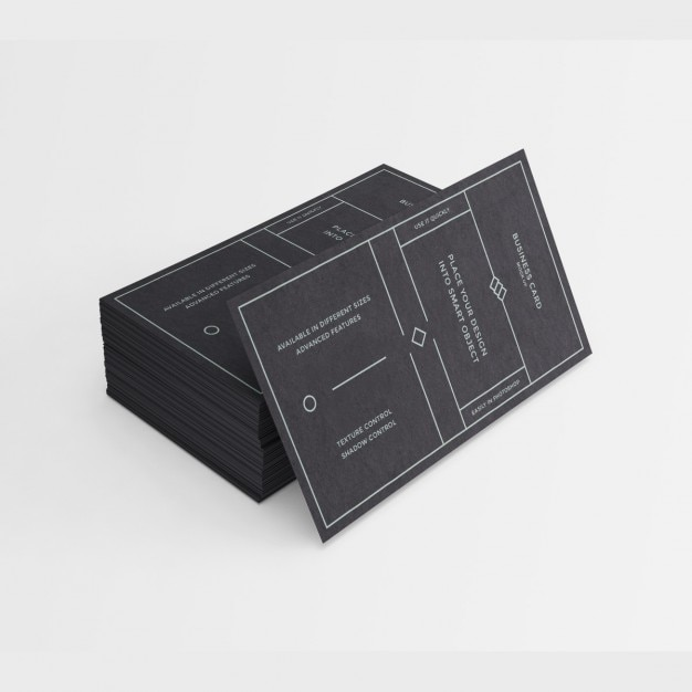 Schwarz Visitenkarten Design Kostenlose Psd Datei