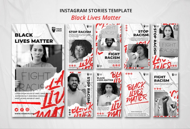 Schwarze leben sind wichtig für instagram-geschichten Kostenlosen PSD