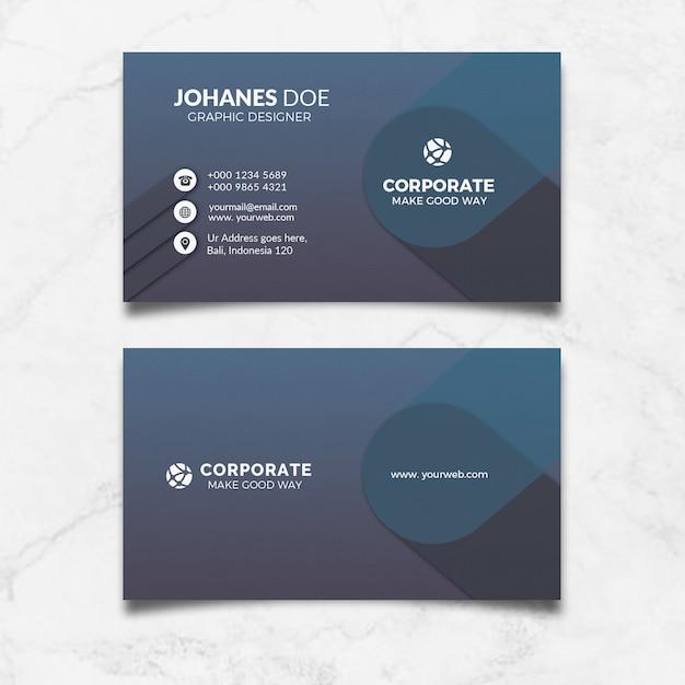 Schwarze unternehmensvisitenkarte Premium PSD