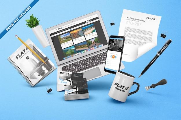 Schwerkraft-branding-identitätsmodell Premium PSD