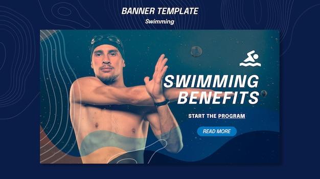 Schwimmvorteile vorlage banner Kostenlosen PSD