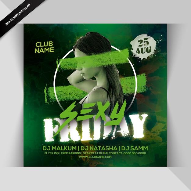 Sexy freitag party flyer Premium PSD
