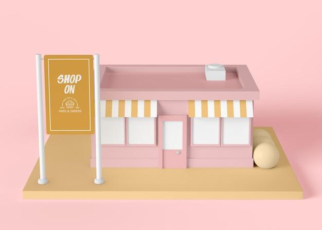 Shopping-konzept für außenwerbung Kostenlosen PSD