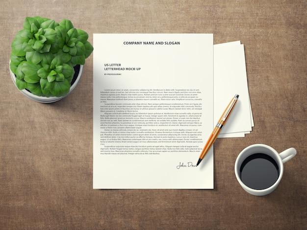 Signiertes dokument mock up Kostenlosen PSD