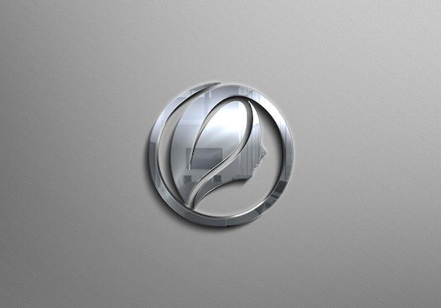 Silber logo logo Premium PSD