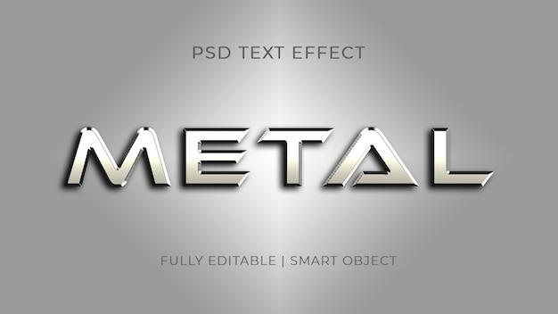 Silberner metalltexteffekt Premium PSD
