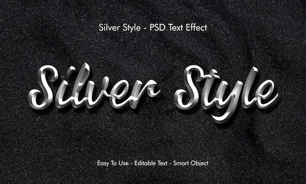Silberner texteffekt Premium PSD