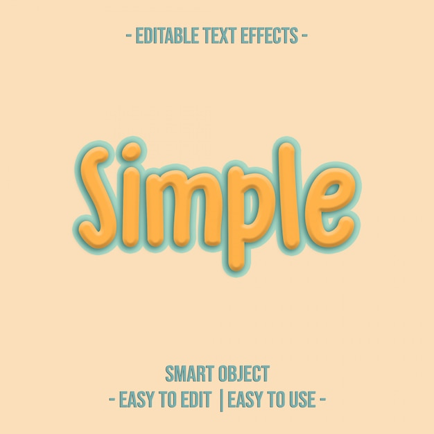 Simple text effect premium-psd Premium PSD
