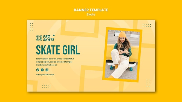 Skate-konzept-banner-vorlage Kostenlosen PSD