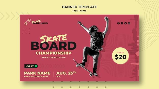 Skateboard konzept banner vorlage Kostenlosen PSD