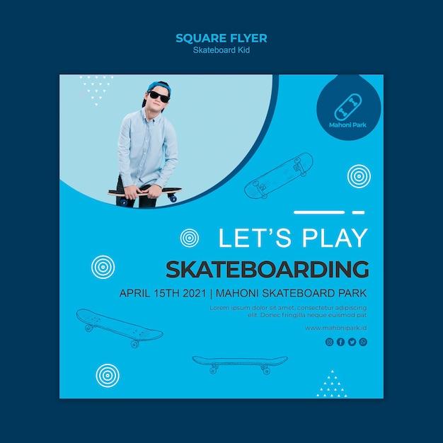Skateboarder flyer vorlage konzept Kostenlosen PSD