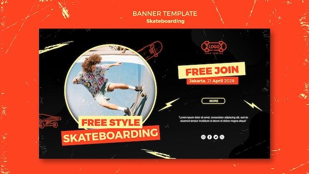 Skateboarding konzept banner vorlage Kostenlosen PSD