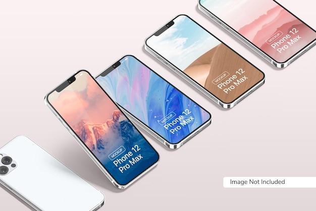 Smartphone 12 pro max mockup Premium PSD