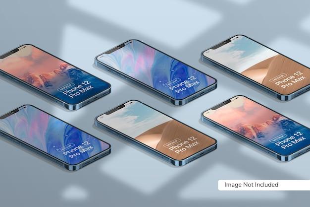Smartphone 12 pro max mockup Kostenlosen PSD