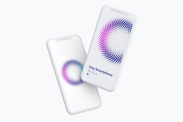 Smartphone-bildschirme modell Premium PSD