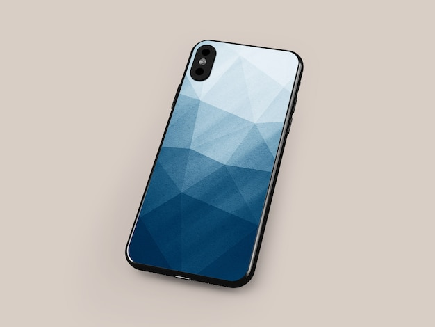 Smartphone-fall-modell Premium PSD