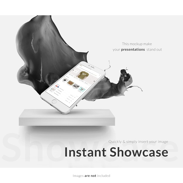 Smartphone mock-up Kostenlosen PSD