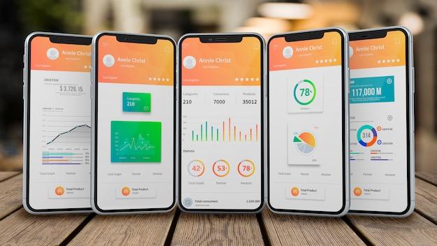 Smartphone-modell für apps Premium PSD