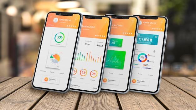 Smartphone-modell für apps Kostenlosen PSD