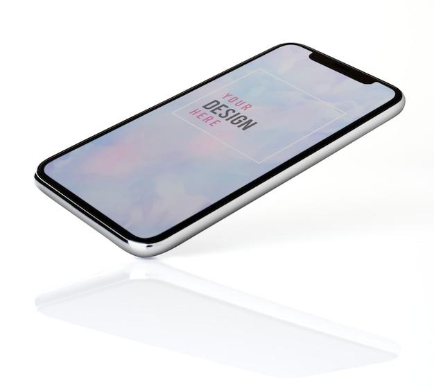 Smartphone-modelldesign im vollbildmodus Kostenlosen PSD