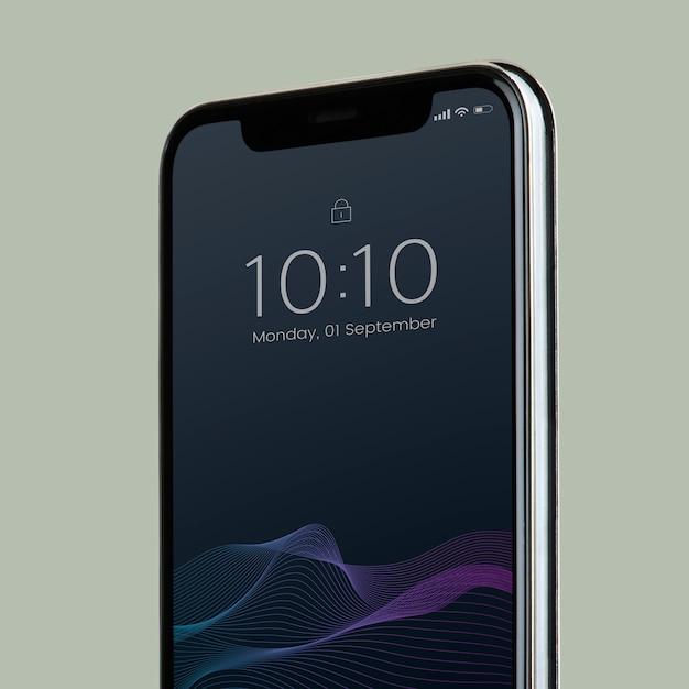 Smartphone-modelldesign mit schwarzem bildschirm Kostenlosen PSD