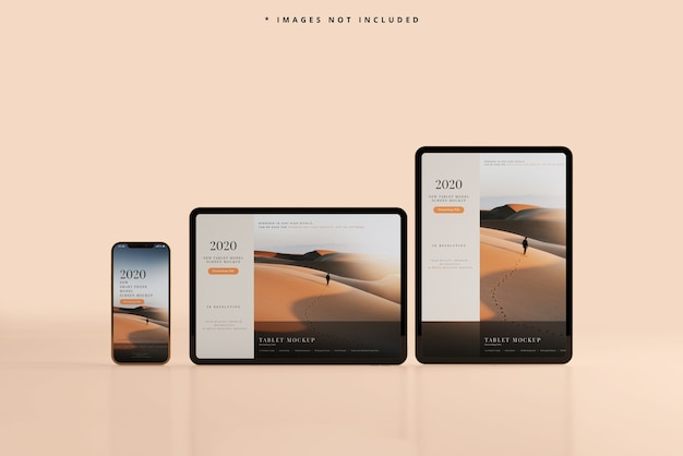 Smartphone- und tablet-modell Kostenlosen PSD