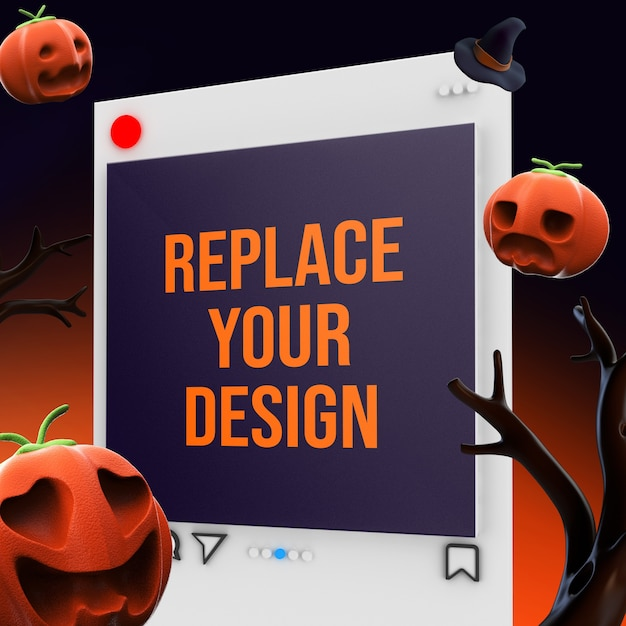 Socail media quadratische größe mockup design 3d-rendering Premium PSD